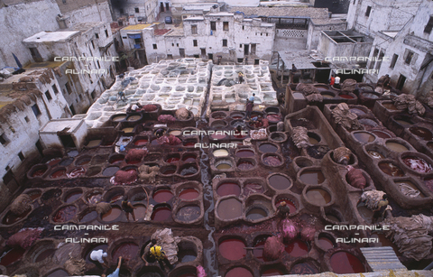 AAC-F-009401-0000 - Fes ART 169 Citta vecchia, tintori nella vecchia Medina