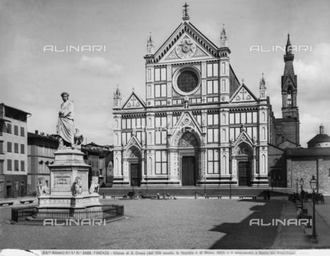 ACA-F-002068-0000 - Monument to Dante Alighieri, Piazza Santa Croce, Florence