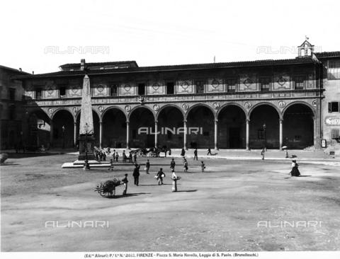 ACA-F-002462-0000 - Loggia of the Ospedale di San Paolo, Piazza Santa Maria Novella, Florence