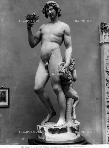 ACA-F-002714-0000 - Bacco, marmo, Michelangelo Buonarroti (1475-1564), Museo Nazionale del Bargello, Firenze - Data dello scatto: 1890 ca. - Archivi Alinari, Firenze