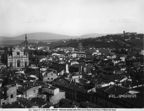 ACA-F-003079-0000 - View of Florence. On the left, the basilica of S.Croce and, in the background, the Monte alle Croci