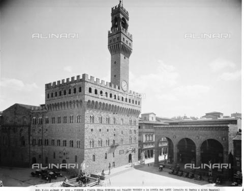 ACA-F-003096-0000 - Veduta di Piazza della Signoria a Firenze - Data dello scatto: 1890 ca. - Archivi Alinari-archivio Alinari, Firenze