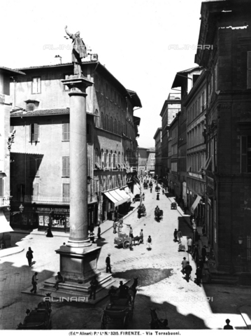 ACA-F-003215-0000 - View of Via Tornabuoni in Florence