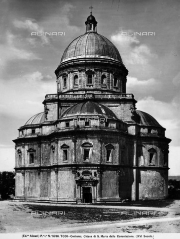 ACA-F-005766-0000 - The Church of Santa Maria della Consolazione (Mary of the Consolation), Todi