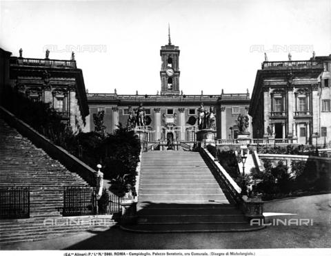 ACA-F-005961-0000 - Faà§ade, Palazzo Senatorio, Piazza del Campidoglio, Rome