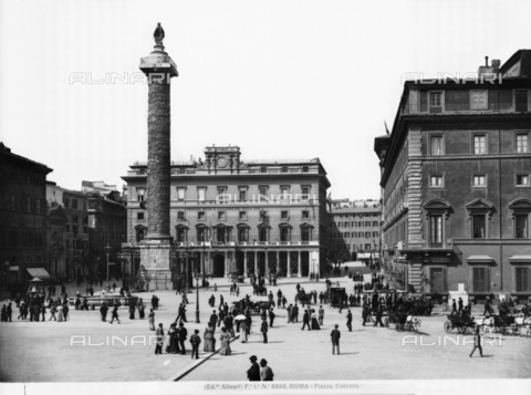 ACA-F-006698-0000 - The Column of Marcus Aurelius, Piazza Colonna, Rome