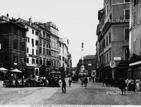 ACA-F-006964-0000 - View of Piazza di Spagna with the Barcaccia fountain.