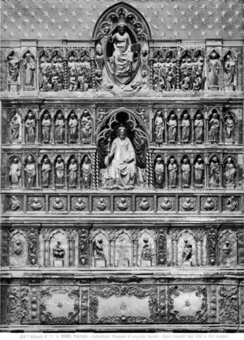 ACA-F-010165-0000 - Silver altar of San Jacopo, embossed silver plate, Chapel of the Crucifix, Cathedral of San Zeno, Pistoia - Date of photography: 1900-1905 ca. - Alinari Archives-Alinari Archive, Florence