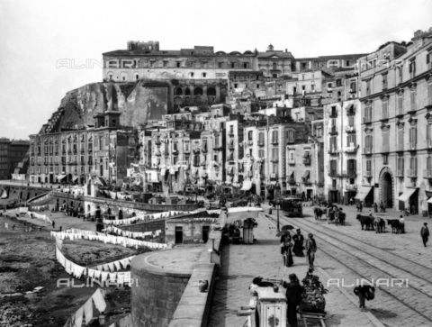 ACA-F-011317-0000 - Via Santa Lucia in the district of Pizzofalcone in Naples. Mount Echia can be seen in the background