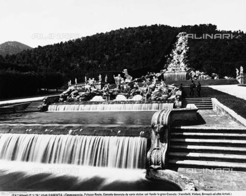 ACA-F-011546-0000 - The Great Waterfall, or Diana's Bath, Royal Palace Park, Caserta.