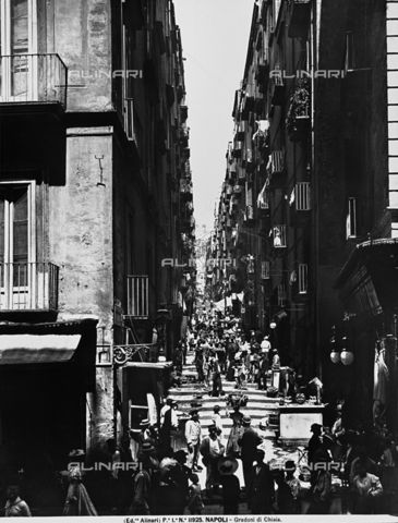 "ACA-F-011925-0000 - View of the ""gradoni"" (steps) of Via Chiaia in Naples"