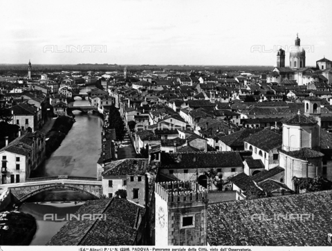 ACA-F-012316-0000 - Panoramic view from the Observatory of Padua. On the left, the river with bridges is visible.