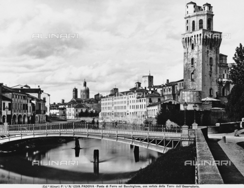 ACA-F-012319-0000 - View of the metallic bridge of Padua built in 1881; to the right the Tower of the Observatory