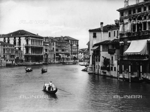 ACA-F-012401-0000 - The Grand Canal with Ca' Rezzonico and Ca' Foscari in Venice
