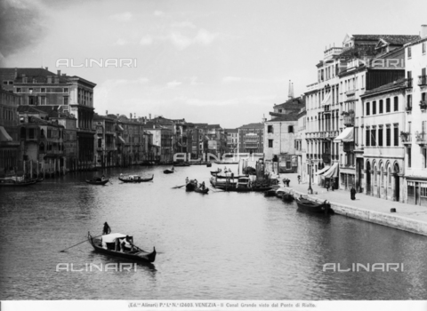ACA-F-012403-0000 - View of the Grand Canal in Venice from the Rialto Bridge