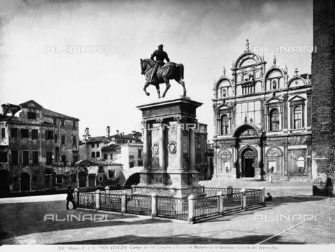 ACA-F-012626-0000 - Equestrian Monument to Bartolomeo Colleoni, Campo San Zanipolo, Venice