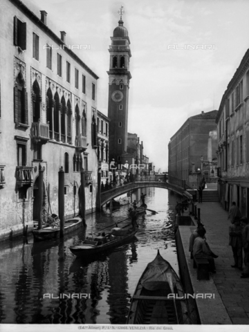 ACA-F-012868-0000 - View of the Rio dei Greci in Venice; the bell tower of the church of San Giorgio dei Greci can be seen on the right