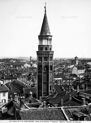 ACA-F-014208-0000 - Bell tower, Church of San Gottardo in Corte, Milan