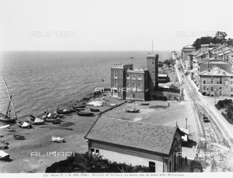 ACA-F-015114-0000 - Lungomare of Pegli, seen from the Grand Hotel Mediterreaneo, near Genoa