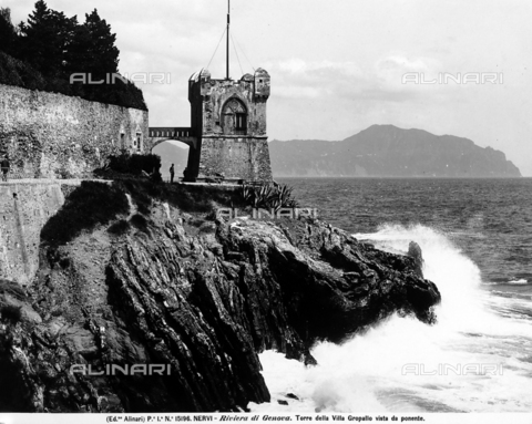 ACA-F-015196-0000 - Tower of Villa Gropallo, Nervi, Genoa