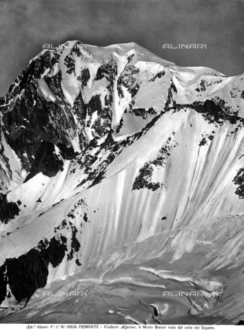 ACA-F-015926-0000 - Mont Blanc - Date of photography: 1900-1905 ca. - Alinari Archives-Alinari Archive, Florence