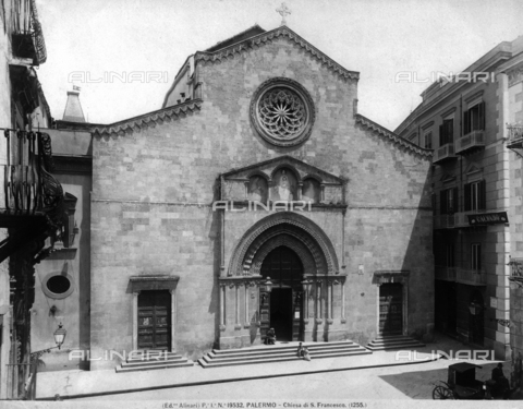 ACA-F-019532-0000 - Faà§ade, Church of San Francesco d'Assisi, Palermo