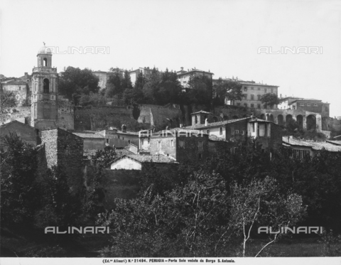 ACA-F-021494-0000 - The Porta Sole Mount seen from Borgo Sant'Antonio, in Perugia