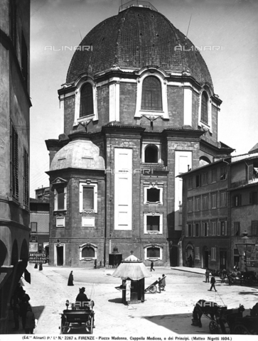 ACA-F-02267A-0000 - Exterior, Chapel of the Princes, Medici Chapels, Basilica of San Lorenzo, Florence, Tuscany