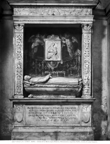ACA-F-027907-0000 - Funeral monument by Agostino Maffei, Andrea Bregno (1418-1503), Church of Santa Maria sopra Minerva, Rome - Data dello scatto: 1920-1930 ca. - Archivi Alinari, Firenze