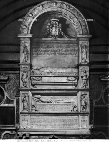 ACA-F-028264-0000 - Funeral monument of the cardinals Philippe and Eustache de Levis, 15th century art, Church of Santa Maria Maggiore, Rome - Data dello scatto: 1920-1930 ca. - Archivi Alinari, Firenze