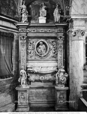 ACA-F-028460-0000 - Funeral monument of Cardinal De Castro, Francesco da Sangallo (1494-1576), Venuti Chapel, Santa Maria del Popolo Church, Rome - Data dello scatto: 1920-1930 ca. - Archivi Alinari, Firenze