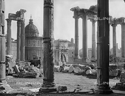 ACA-F-028672-0000 - Temple of Saturn, Roman Forum, Rome