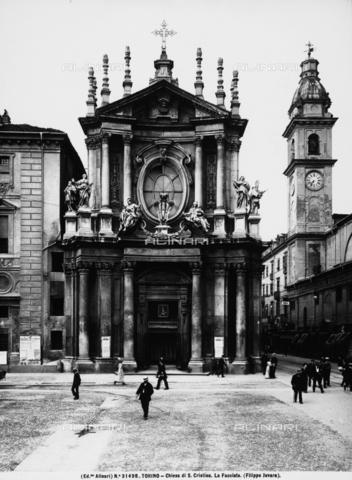 ACA-F-031498-0000 - Faà§ade, Church of S. Cristina, Filippo Juvarra, Piazza San Carlo, Turin.