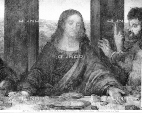 ACA-F-031869-0000 - The Last Supper of Leonardo da Vinci in the Refectory, Jesus Christ - Data dello scatto: 1915-1920 - Archivi Alinari, Firenze