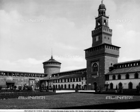 ACA-F-031908-0000 - Tower dedicated to Umberto I, known as the Torre del Filarete, Castello Sforzesco, Milan