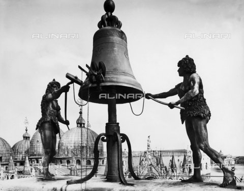 ACA-F-032028-0000 - The Moors striking the hours, Clock Tower, St. Mark's Square, Venice