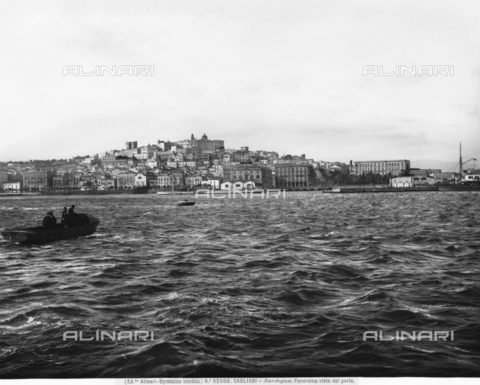 ACA-F-032508-0000 - Panoramic view of the port of the city of Cagliari, Sardinia.