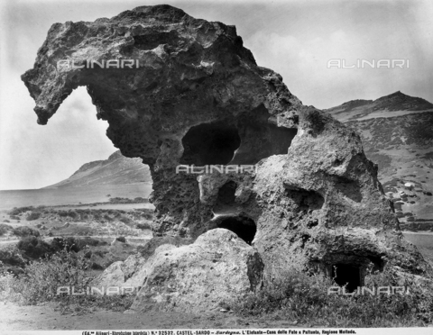 ACA-F-032532-0000 - View of the Elephant-Fairy House in Paltunta, located in Castelsardo, Sassari.