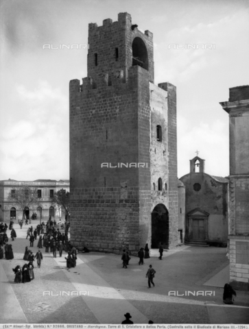 ACA-F-032666-0000 - Tower of Mariano II, also known as the tower of San Cristoforo or the Porta Manna, Oristano