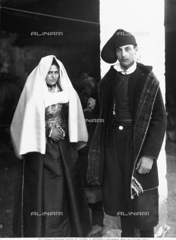 ACA-F-032683-0000 - Newly weds in ancient, traditional Sardinian dress from the island of Sant'Antioco
