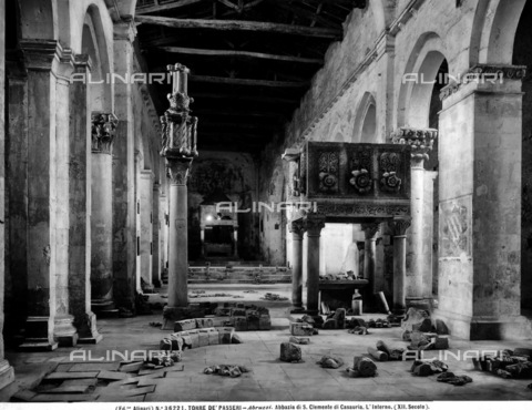 ACA-F-036221-0000 - The Abbey Church of San Clemente in Casauria - Date of photography: 1920 ca. - Alinari Archives-Alinari Archive, Florence
