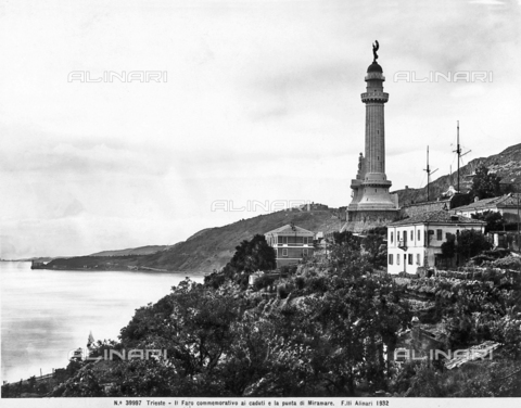 ACA-F-039997-0000 - Trieste View of coastline with lighthouse of Victory and the tip of Miramare