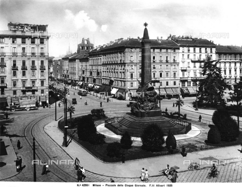 ACA-F-042951-0000 - Monument of the Cinque Giornate, Piazza Cinque Giornate, Milano
