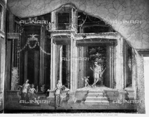 ACA-F-043180-0000 - Wall painting in the House of Pinario Ceriale in Pompeii - Date of photography: 1935 - Alinari Archives-Alinari Archive, Florence