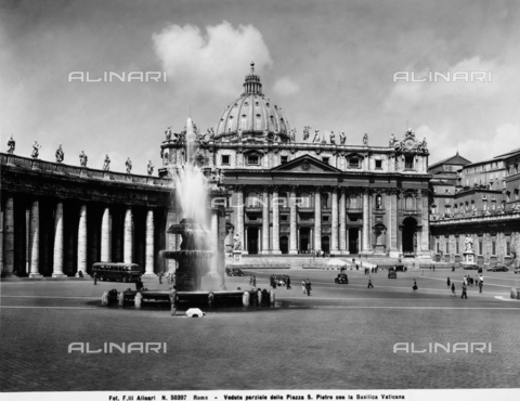 ACA-F-050397-0000 - Bernini's Colonnade, Colonnade of Piazza San Pietro, Rome- Vatican City