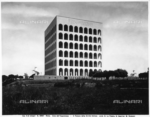 ACA-F-050421-0000 - Palazzo della Civiltà Italiana or Civilization of Work Palazzo, 1938-1942, G. Guerrini, E. B. Lapadula, M. Romano, EUR District, Rome