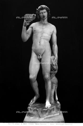 ACA-F-050644-0000 - Bacco, marmo, Michelangelo Buonarroti (1475-1564), Museo Nazionale del Bargello, Firenze - Data dello scatto: 1938 ca. - Archivi Alinari, Firenze