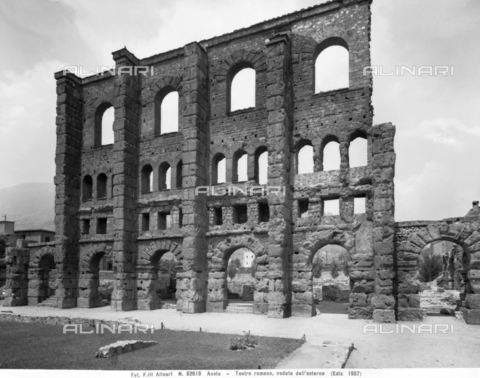 ACA-F-052619-0000 - The ruins of the Roman Theater in Aosta - Date of photography: 1957 - Alinari Archives-Alinari Archive, Florence
