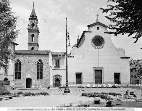 ACA-F-055772-0000 - Faà§ade, Santo Spirito Church, Florence