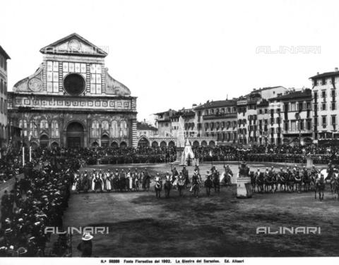 ACA-F-056209-0000 - The Saracen Tournament in piazza Santa Maria Novella, Florence